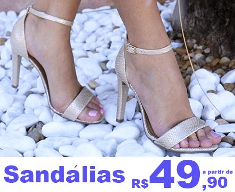Feminino Sandalias
