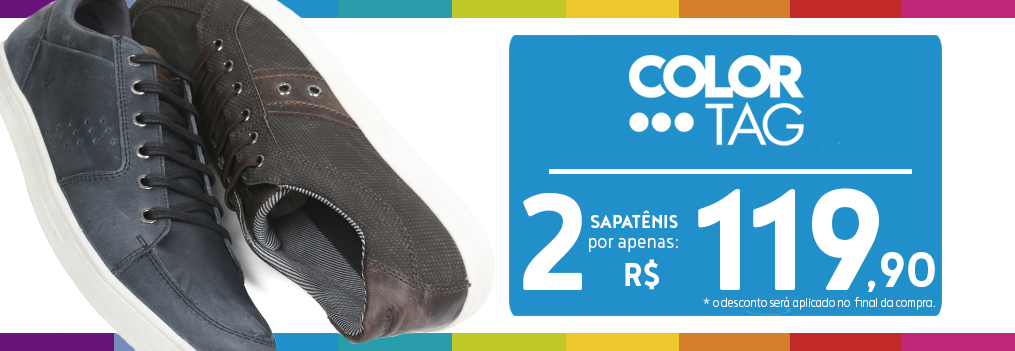 Sapatênis Color Tag